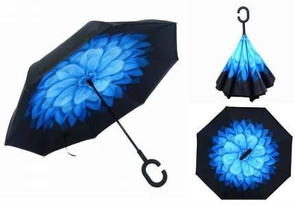 Зонт-трость UpBrella голубой цветок