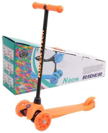 Самокат-кикборд Neon Rider Slider (светятся колеса), оранжевый Slider