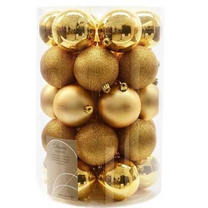 Набор шаров на ель KAEMINGK Новый год 8 см 34 шт 23304