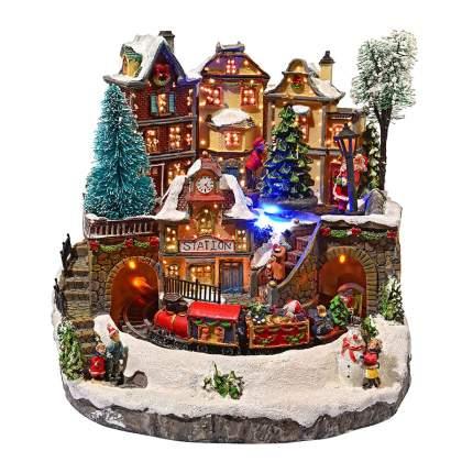 Kaemingk Светящаяся композиция Уютное Рождество, музыка, 27*27*26 см 481097