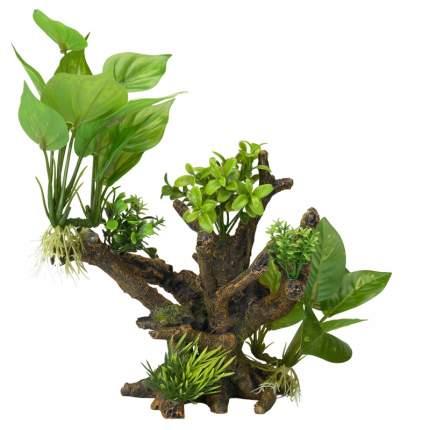 Искусственное растение для аквариума AQUA DELLA Florascape 4, 23х19х20,5 см
