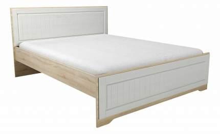 Кровать двуспальная Сильва Оливия НМ 040.34 160х200 см, белый/бежевый