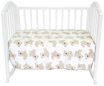 Плед-покрывало Baby Nice Мишки на белом 100x118