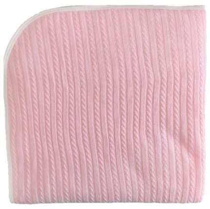 Одеяло-плед вязанный Mam Baby Косички 95x95 розовый