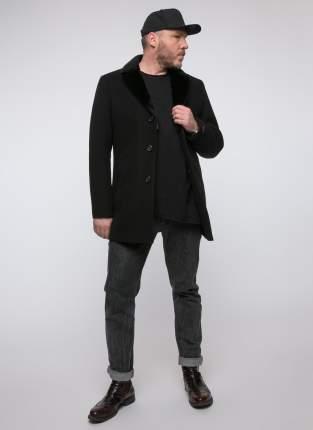 Пальто мужское Misteks 1806 (БЛИЦ-Ч МВМ) черное 44 RU
