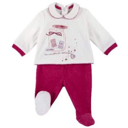 Комплект (кофта+брюки) Chicco для девочек р.62 цв.белый; красный