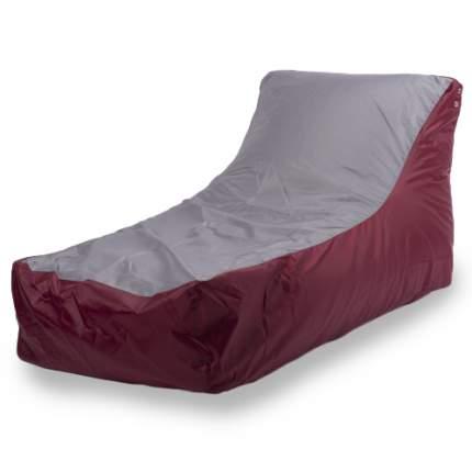 Бескаркасный модульный диван ПуффБери Кушетка one size, оксфорд, Бордовый/Серый