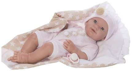 Пупс Nines d'Onil Новорожденный малыш, в розовой одежде, в одеяле