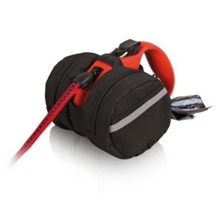 Сумка для поводка-рулетки TRIXIE, черная, размер M-L, диаметр 11 см