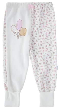 Ползунки - штанишки Папитто с манжетом Воздушные шарики цвет розовый, экрю р.20-62