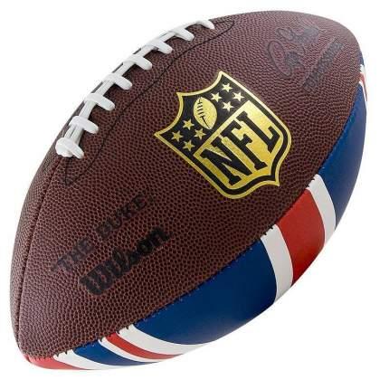 Мяч для американского футбола Wilson NFL Team Logo, коричневый