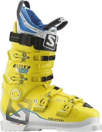Горнолыжные ботинки Salomon X Max 130 2017, white/yellow, 24.5