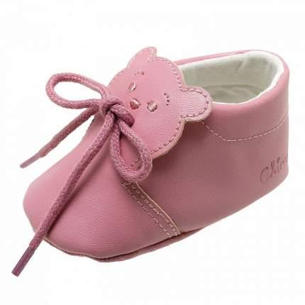 Пинетки chicco onelly, для девочек, р.17,  цвет розовый