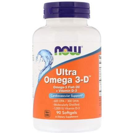 NOW Ultra Omega-3-D 600 EPA/300 DHA 90 капсул