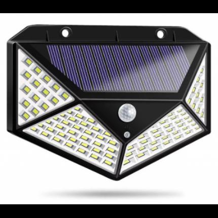 Уличный настенный 100 светодиодный фонарь на солнечной батарее
