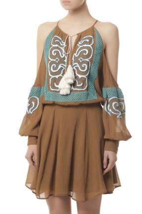 Платье женское WANDERING WGS17413BROWN174 коричневое 40 IT
