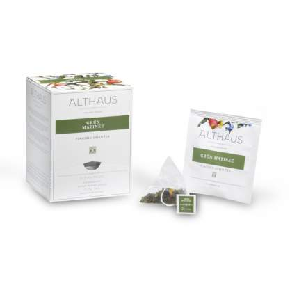 Чай зеленый в пирамидках Althaus грюн матинэ 15*2.75 г