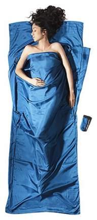 Вкладыш в спальник Cocoon Silk Travelsheet синий 220X90 см