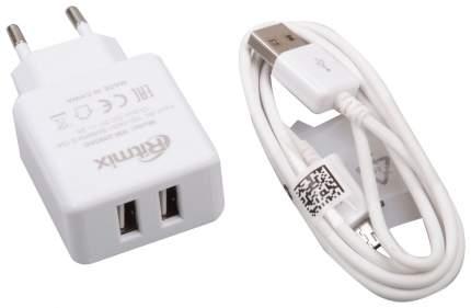 Сетевое зарядное устройство Ritmix RM-2095 2 USB 2A White