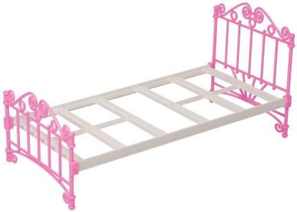 Кроватка для кукол Огонек розовая без постельных принадлежностей С-1426