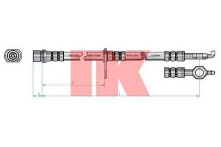 Тормозной шланг Nk 8545149