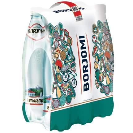 Вода Borjomi минеральная лечебно-столовая газированная пластик 0.75 л 6 штук в упаковке