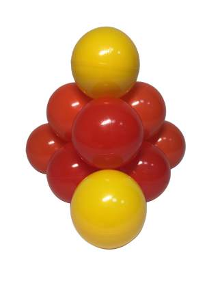 Комплект шариков Солнечный (100шт: оранж, жел, и красн) для сухого бассейна