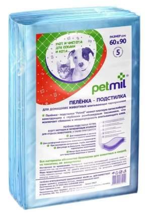 Пеленка для животных Petmil впитывающая одноразовая с суперабсорбентом, 60 х 90 см, 10 шт