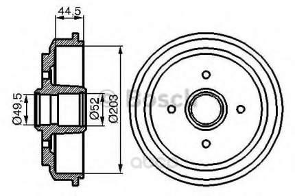 Барабан тормозной Bosch 0986477149