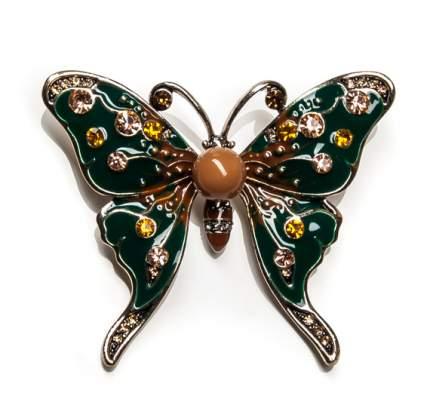 Брошь Moon Paris бабочка со стразами (зеленый)