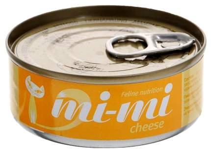 Консервы для кошек и котят Mi-mi с сыром 80 г, 24 шт
