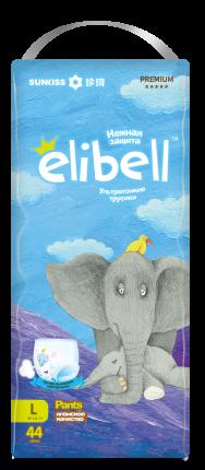 Подгузники-трусики Elibell L 9-14 кг 44 шт