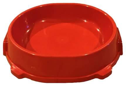 Одинарная миска для кошек и собак FAVORITE, пластик, красный, 0.22 л