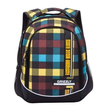 Рюкзак Grizzly RU-925-2 черный/желтый/красный/голубой 14,5 л