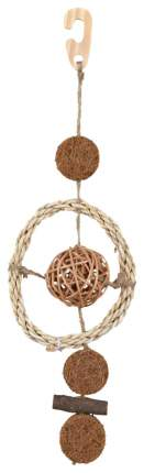 Игрушка для птиц Трикси Подвеска с шариком из лозы 35 см