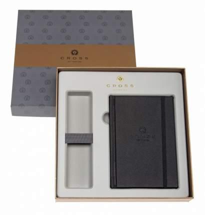 Набор Cross: Блокнот черного цвета в подарочной коробке с местом под ручку