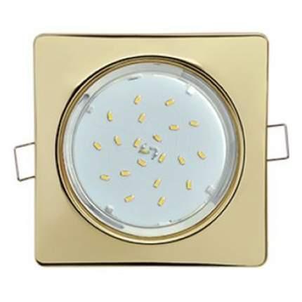 Ecola Gx53-H4 Квадрат Плоский Светильник Встраиваемый Золото 41X107 Fg53N4Ecb