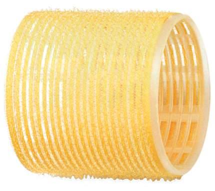 Аксессуар для волос Dewal Бигуди-липучки d=65 мм Желтый 6 шт