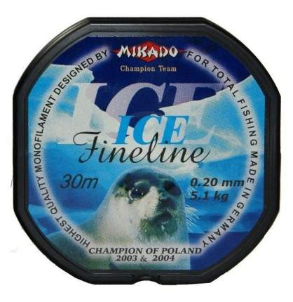 Леска монофильная Mikado FineLine Ice 0,2 мм, 30 м, 5,1 кг