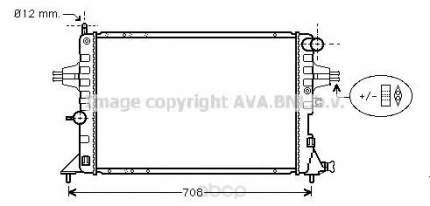 Pадиатор системы охлаждения Opel Astra 98-04, Zafira 99-01 Ava OLA2293