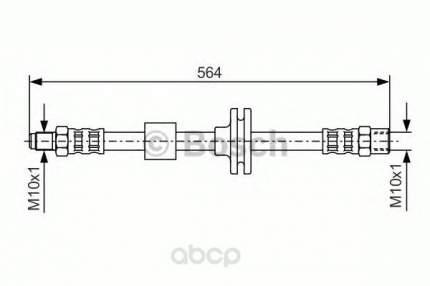 Шланг тормозной системы Bosch 1987476752 передний