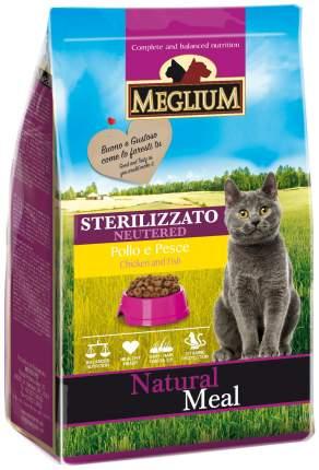 Сухой корм для кошек Meglium Neutered, для стерилизованных, курица, рыба, 0,4кг