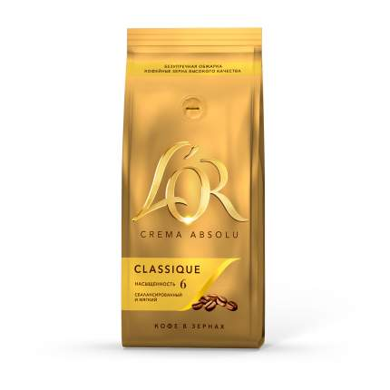 Кофе в зернах L'OR crema absolu classique 230 г