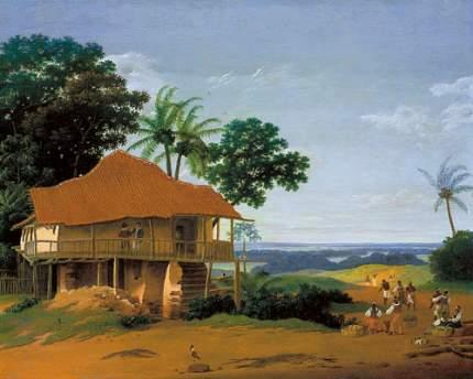 Репродукция Франса Поста, Бразильский пейзаж 32х40 см
