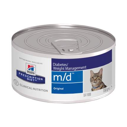 Консервы для кошек Hill's Prescription Diet m/d Diabetes/Weight Management, 12шт, 156г