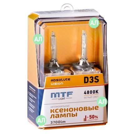 Лампа ксеноновая D3S MTF-Light Absolute Vision 3700lm (2шт.)