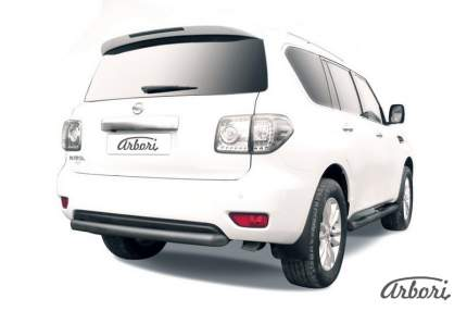 Защита заднего бампера d76 Arbori черный для Nissan PATROL 2012-2014