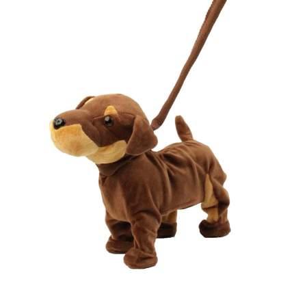 Мягкая игрушка Пушистые друзья Собачка интерактивная на жестком поводке JB500000