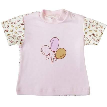 Футболка детская Папитто Воздушные шарики роз/роз И470-37 р.68