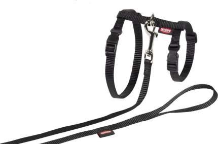 Шлейка с поводком для кошек Nobby XL обхват 17-22 см, черный